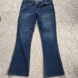 American Eagle Skinny Kick 360 stretch dark jeans